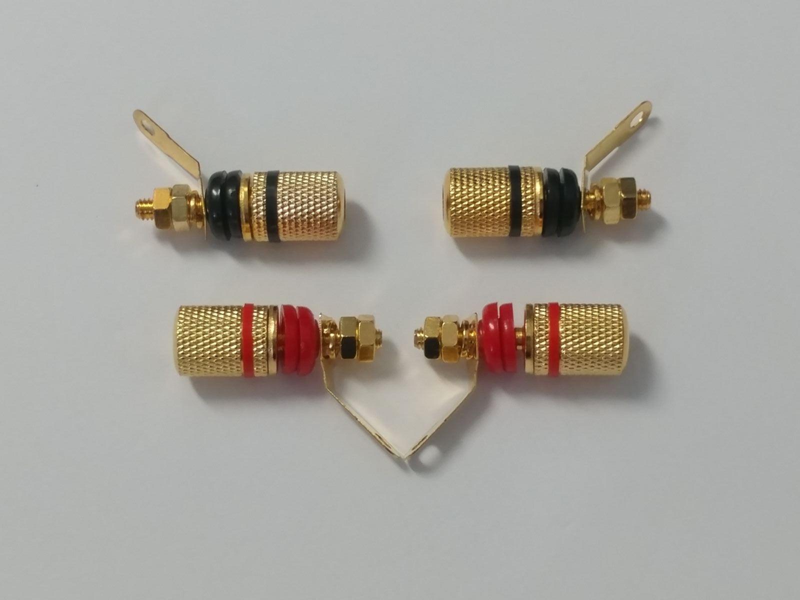 4pc GOLD Binding Post Plug Terminal