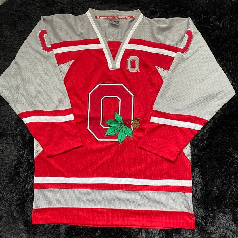 Ohio state buckeyes hockey jersey xl