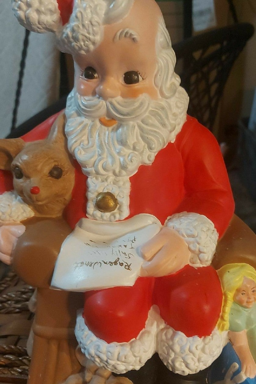 Vintage porcelain santa lot 98
