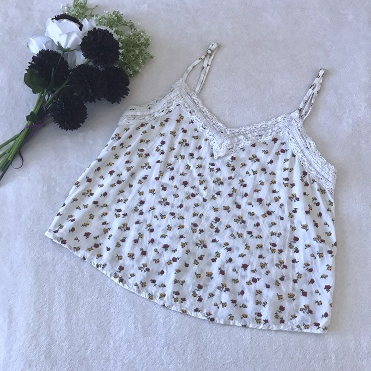Hollister Floral Crop Tank Top