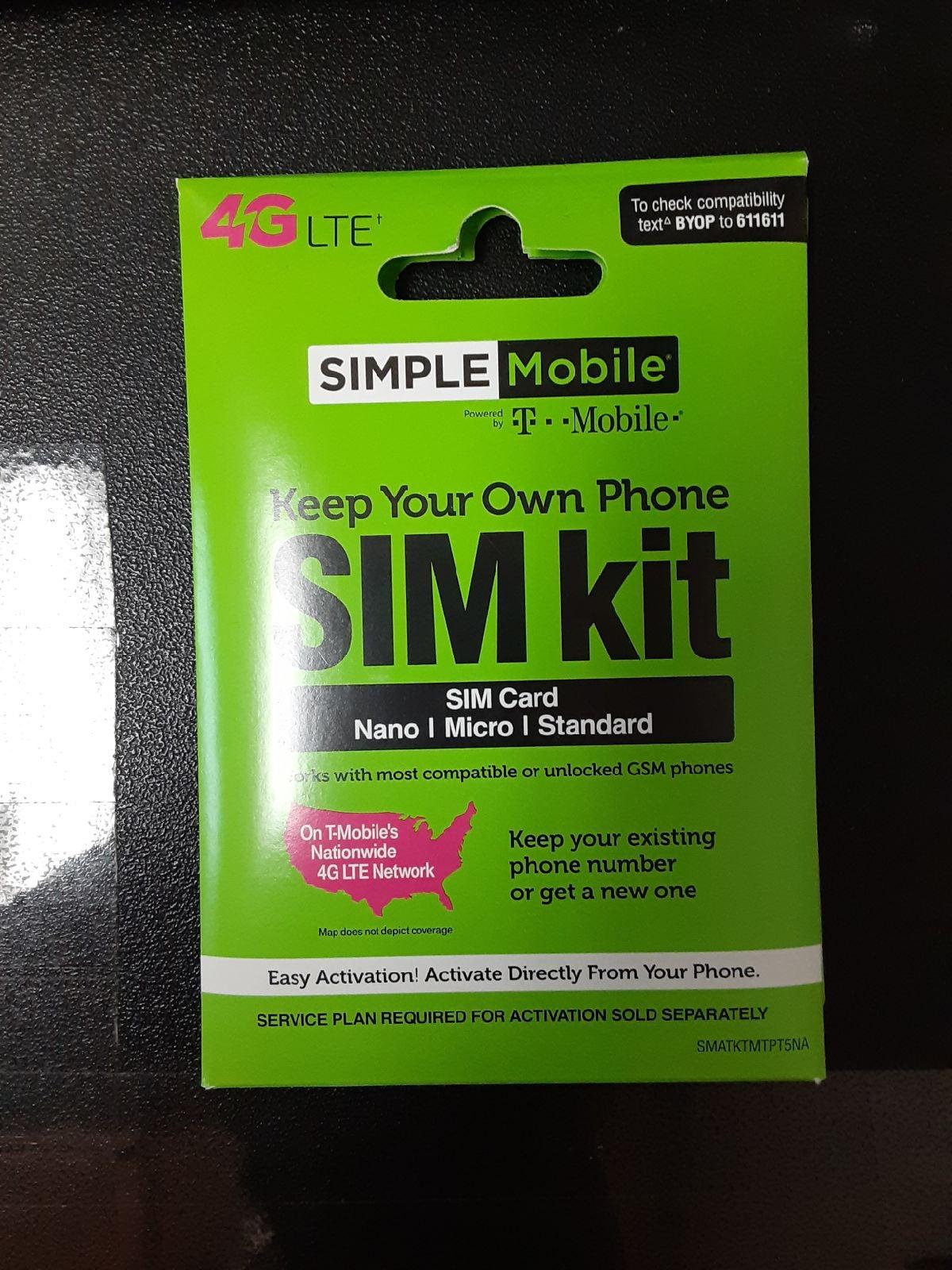 Simple mobile trio sim card