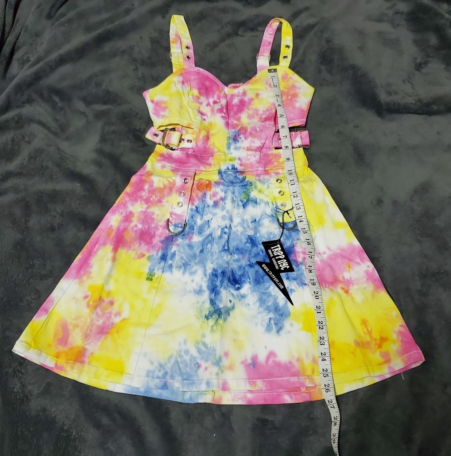 TRIPP nyc tie dyed buckle dress XS