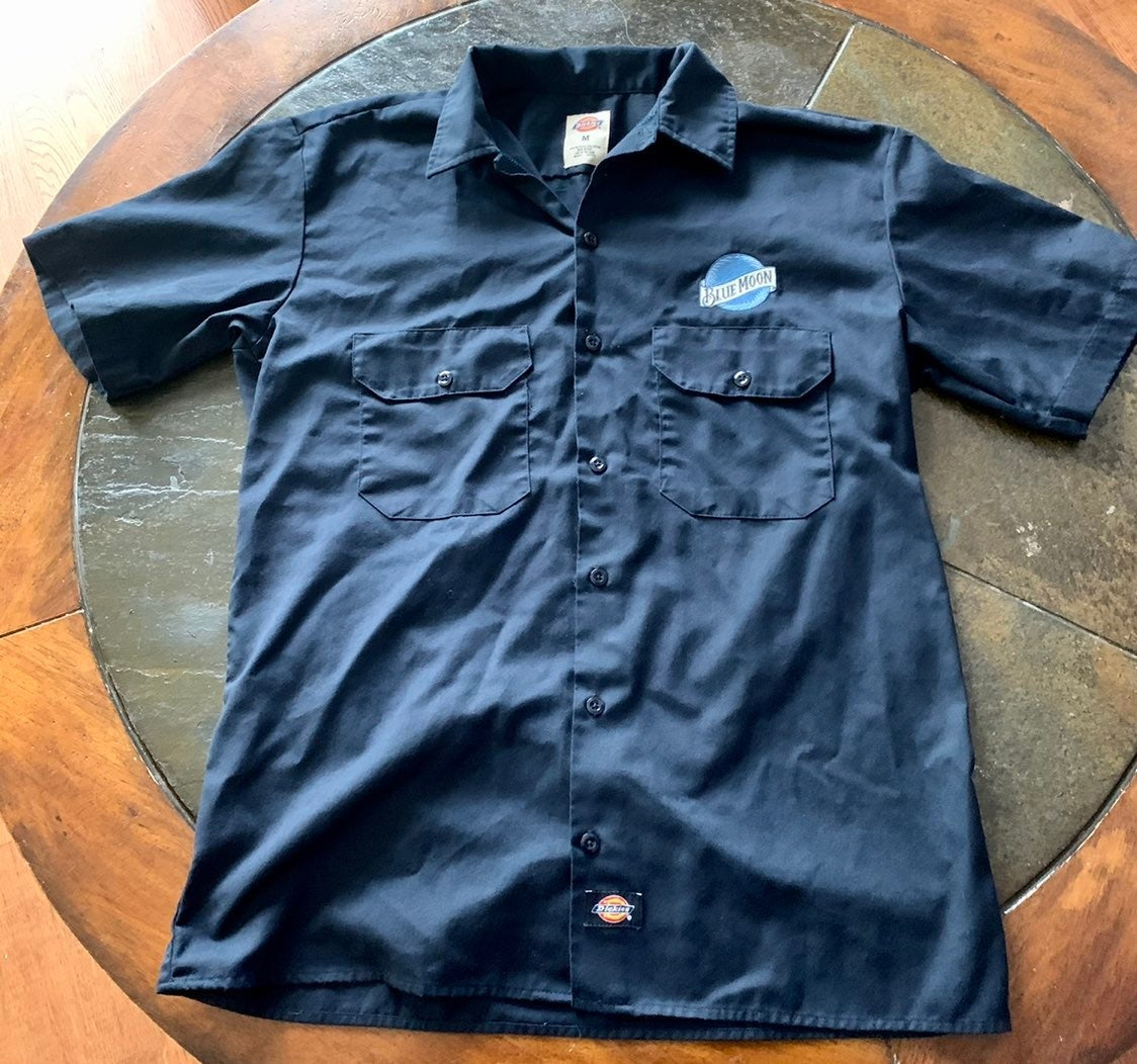 Mens Dickies Blue Moon button up