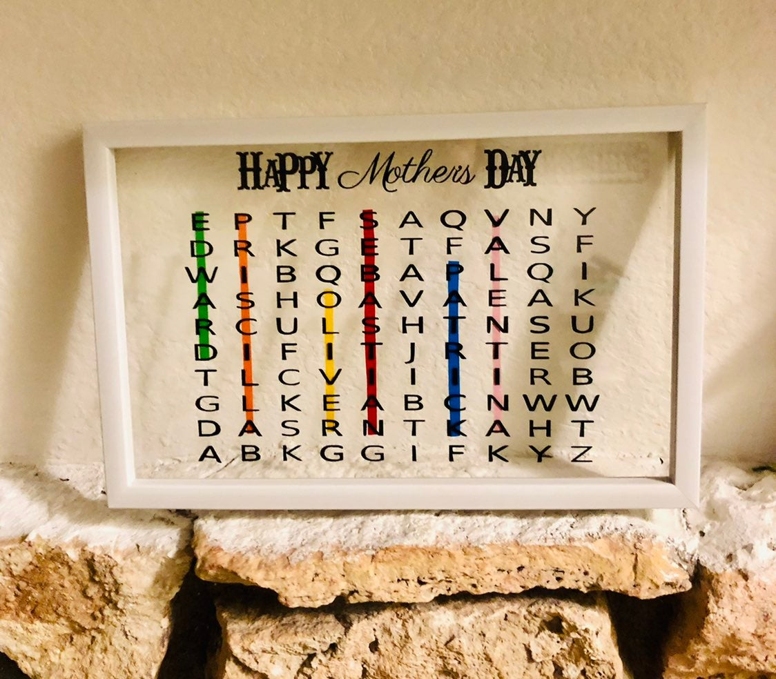 Mothers day word search personalized