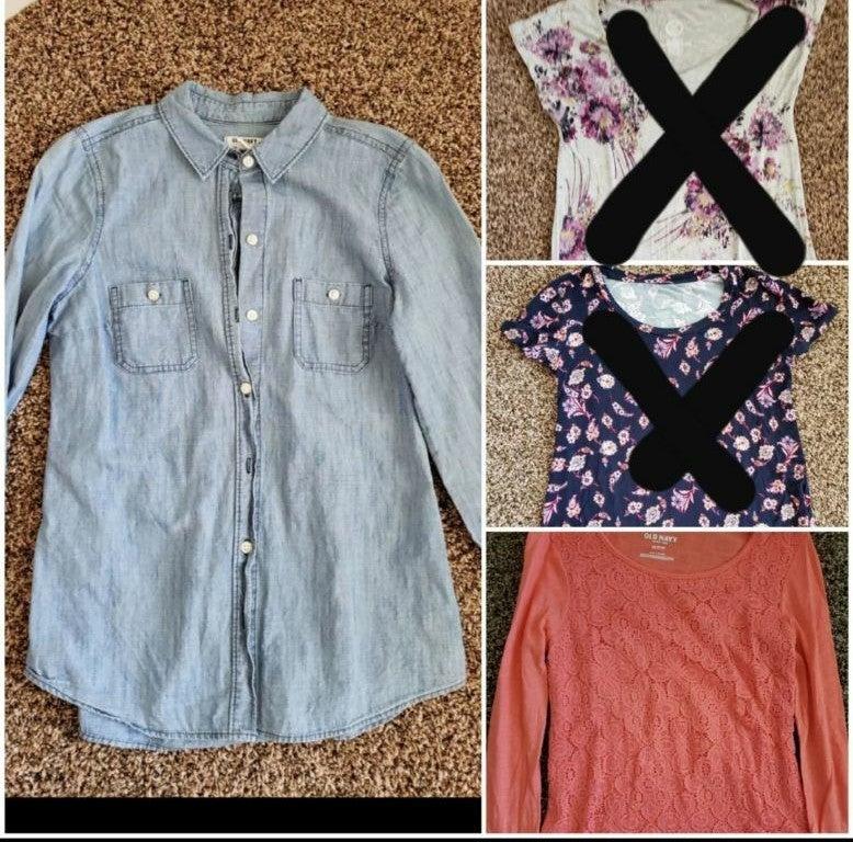 bundle of women clothes