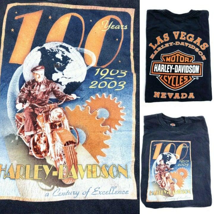 Harley Davidson T-Shirt Mens XL 100 Year