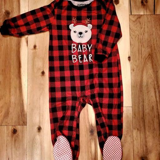 CuddlDuds Baby Bear Buffalo Plaid Footie