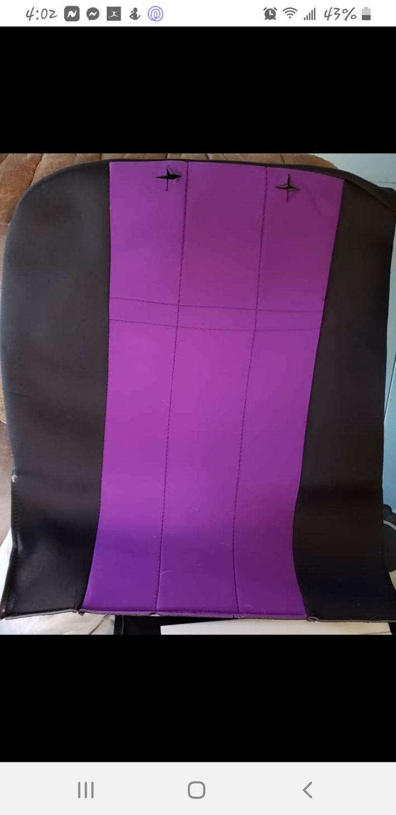 Custom seat covers made by Cover King fo