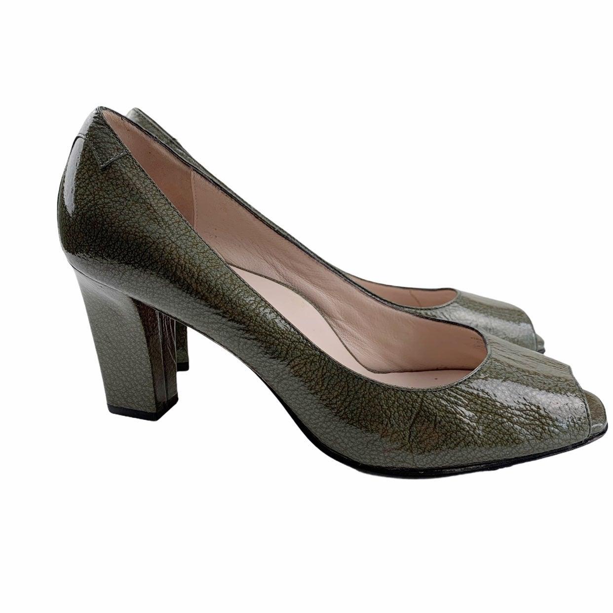 Taryn Rose Peep Toe Patent Leather Heels