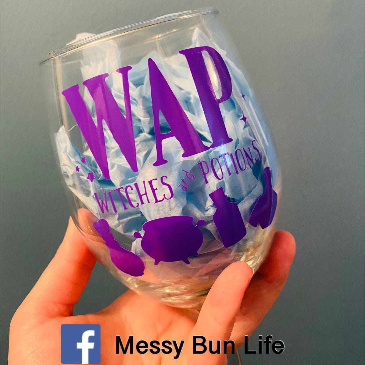 WAP Witches and Potions Wine Glass