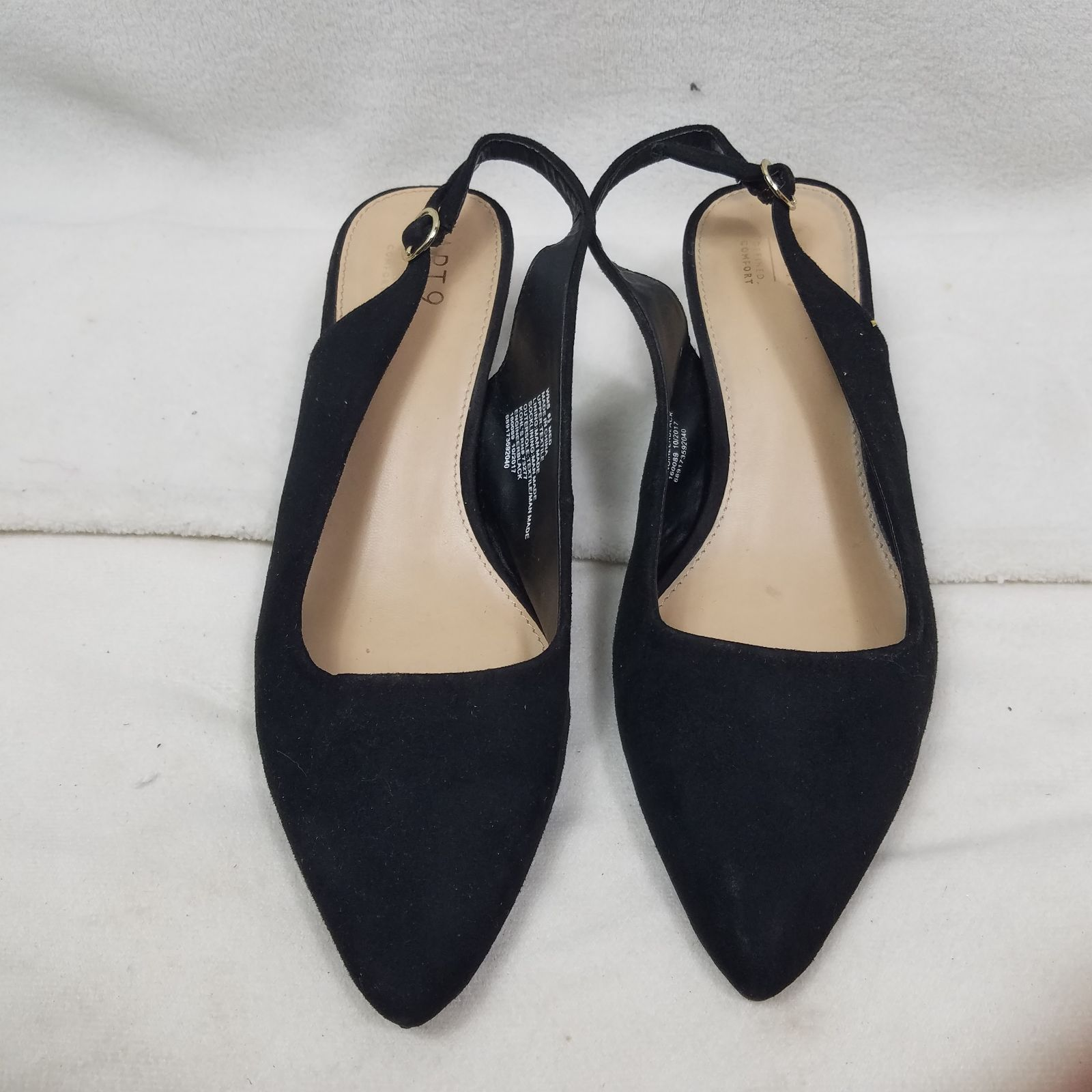 NEW Apt.9 Women/'s Defined Comfort Slip On Round Toe Mules Black #160089 168E tk