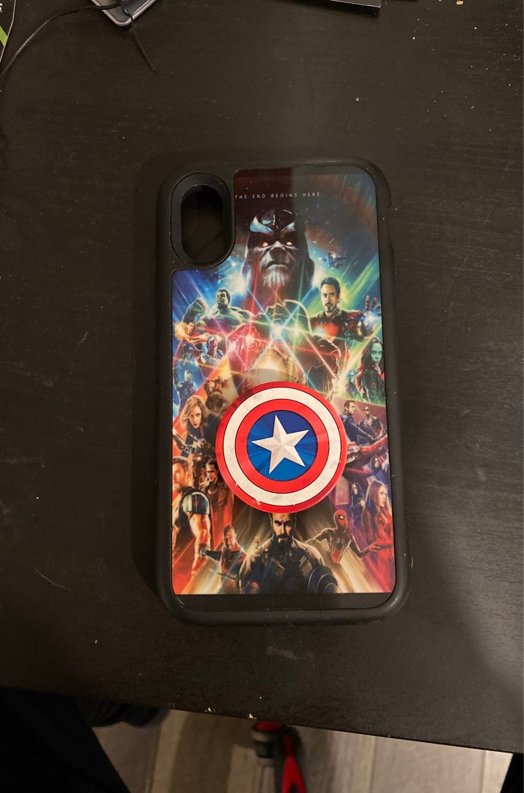 Iphone x marvel case with popsocket