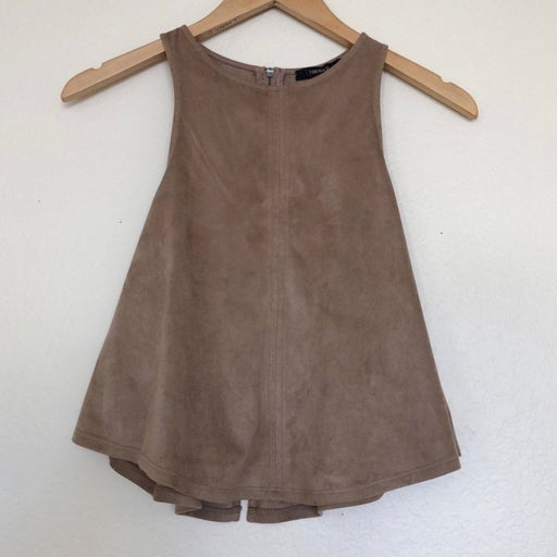 Suede cropped tank