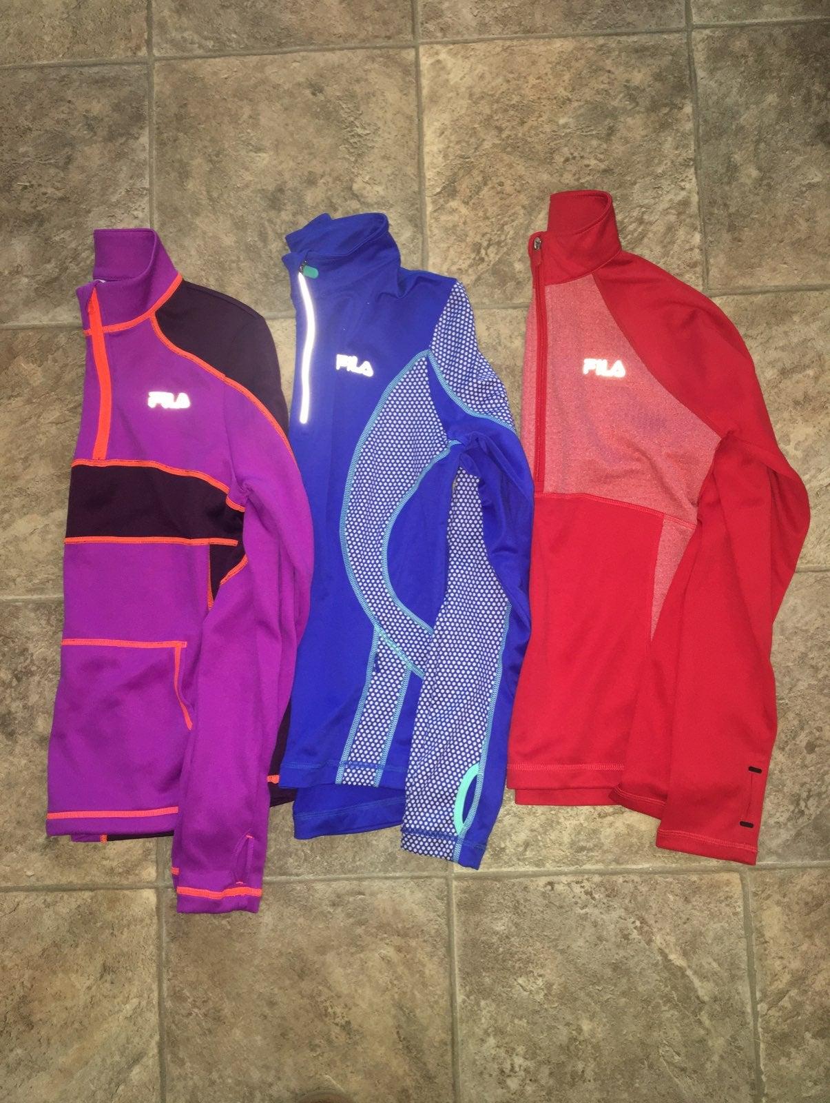 Womens Fila Running Pullovers