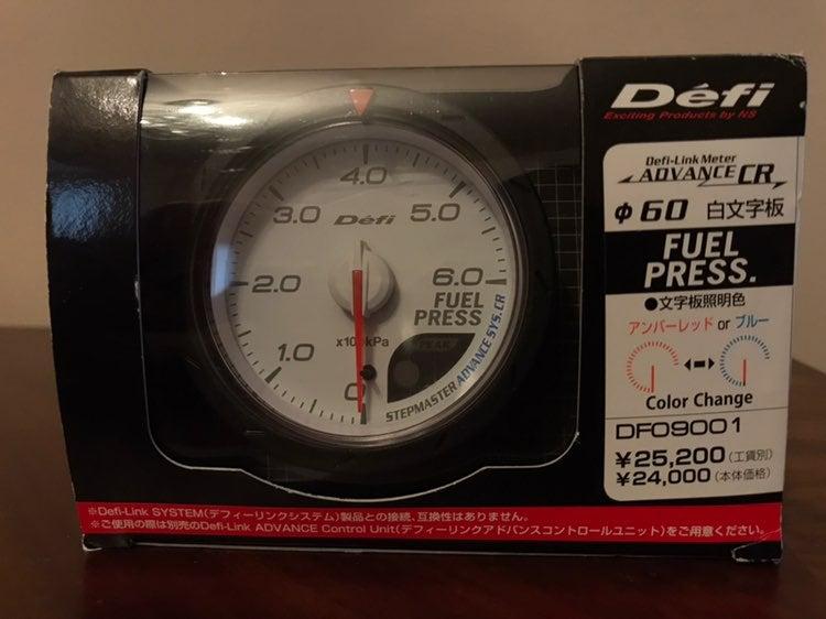 NEW DEFI CR DF09001 FUEL PRESSURE GAUGE