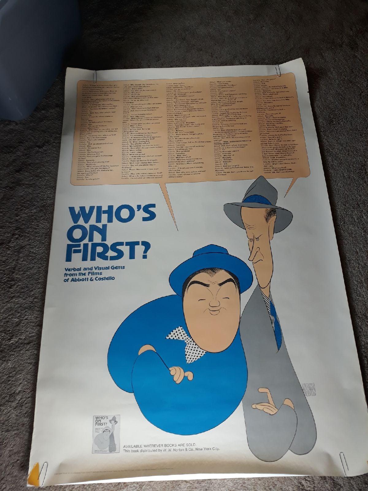Al Hirschfeld Abbott & Costello Who's On