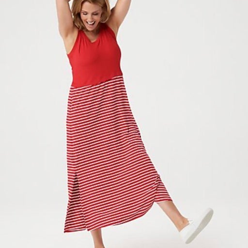 Cuddl Duds Petite Flexwear Maxi Dress PS