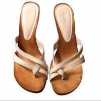 33619a75b ALDO Leather Upper Sandals | Mercari