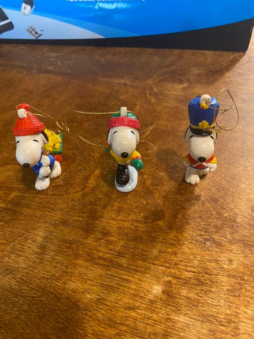 Peanuts Snoopy Christmas Ornaments Lot