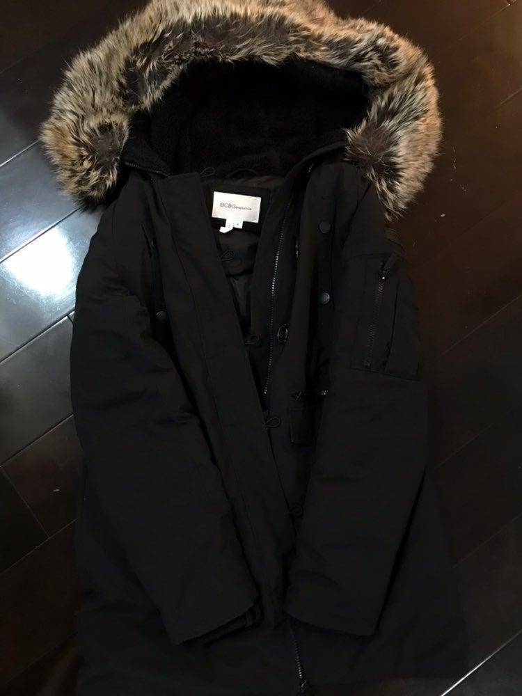 BCBG Generation Hooded Faux-Fur Coat