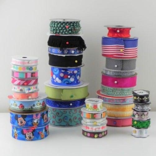 36 Spools of Ribbon - Various Widths