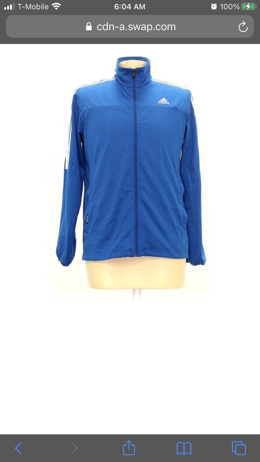 Adidas Track Jacket in Blue