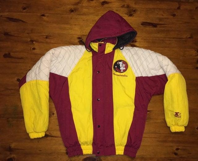 vintage fsu puffer starter jacket