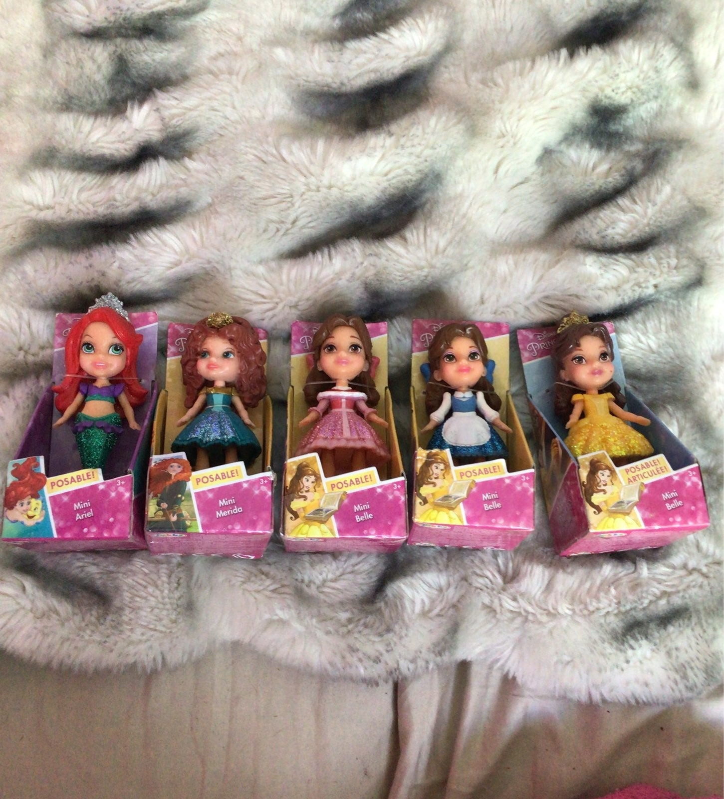 Mini Disney posable princess bundle