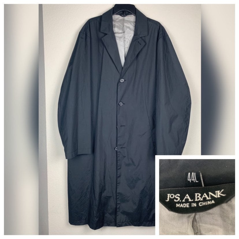 Jos A Bank Black Big & Tall Trench Coat