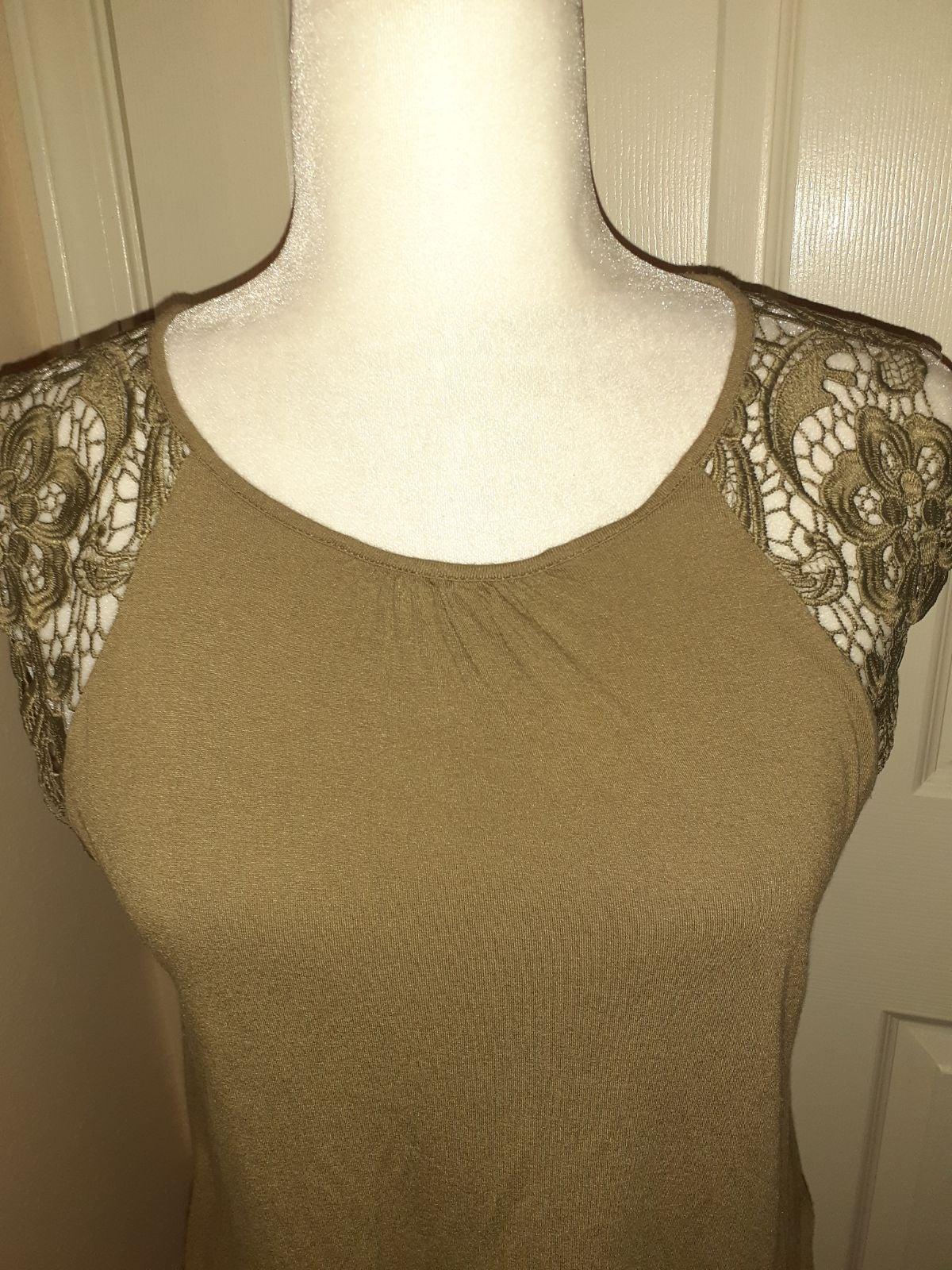 H&M women's medium boho shirt lace