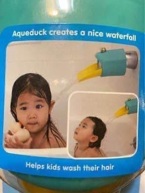 New Aqueduck duck shaped tub safety