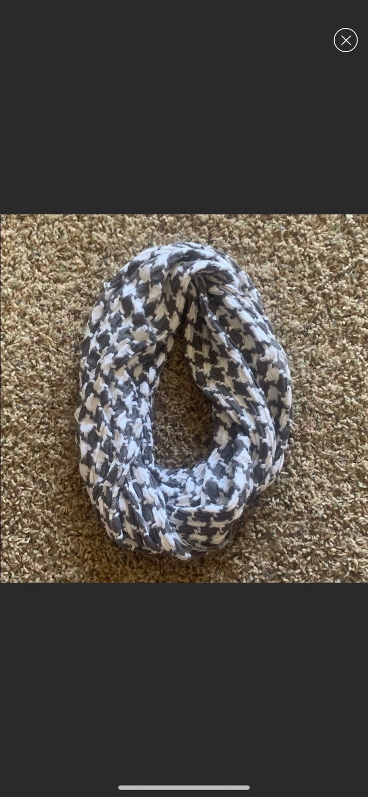 Candie's Infinity Scarf - grey and white