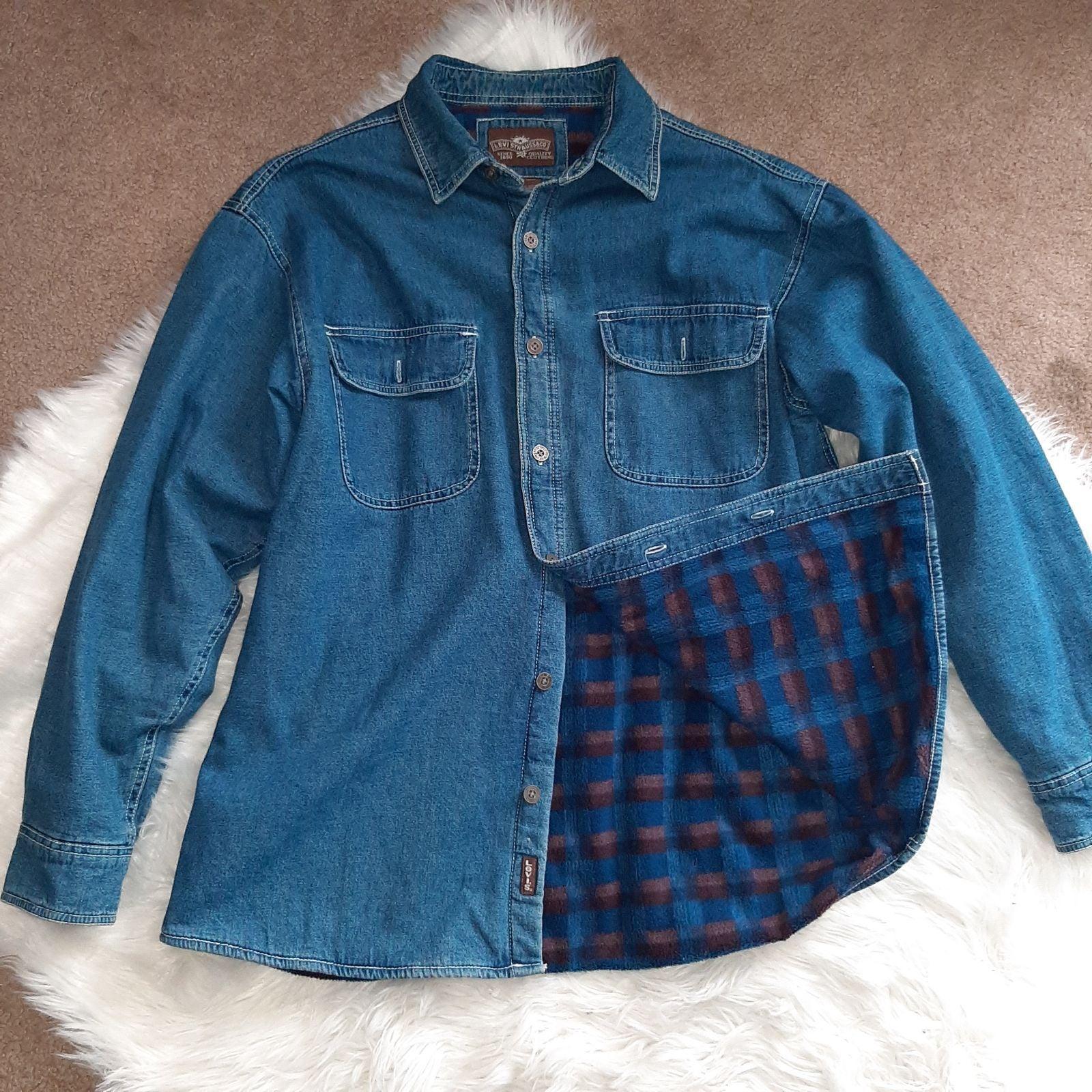 Fleece Lined Jean Button Down