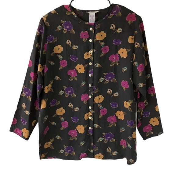 Vintage Anna & Frank Silk Floral Blouse