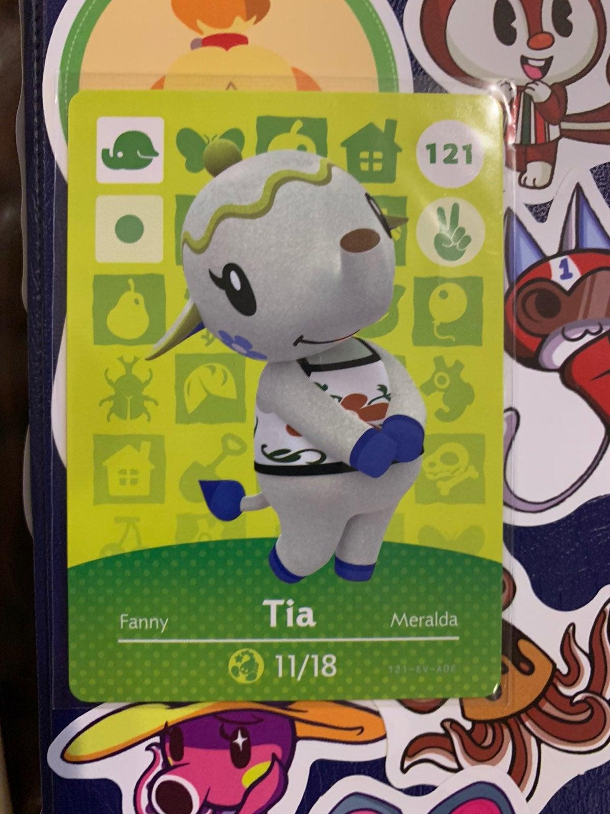 Animal Crossing Amiibo Card - Tia