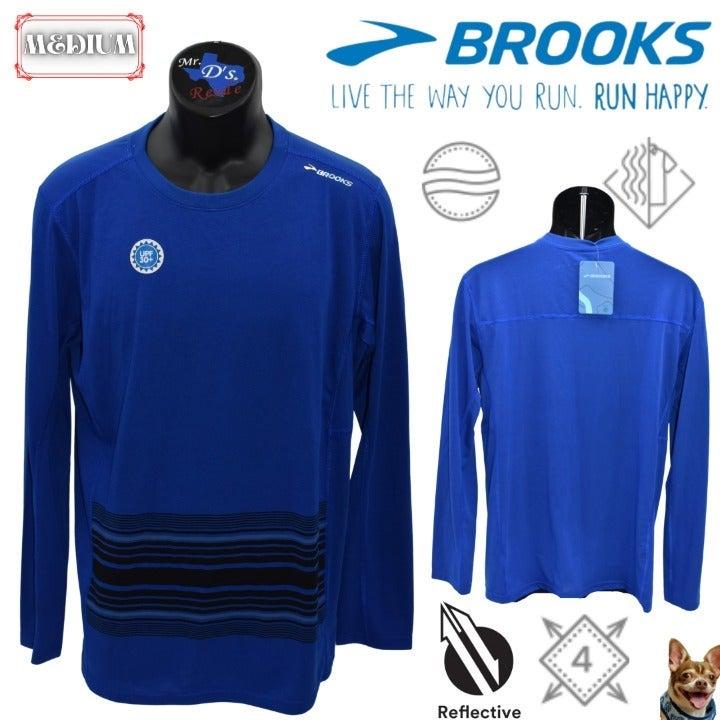 Brooks Medium Blue Distance L/S Men's