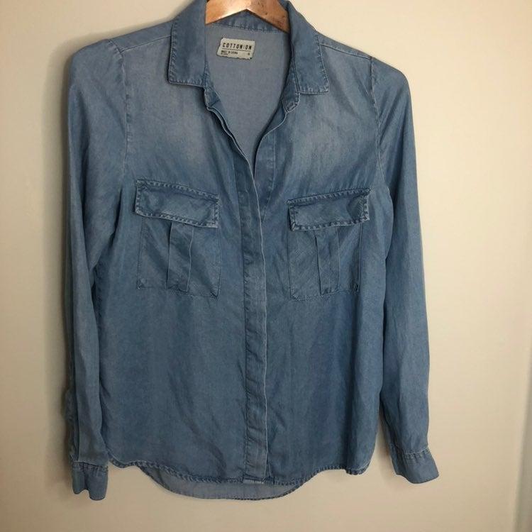 Cotton On Womens chambray Shirt XS