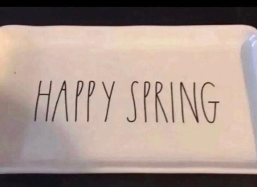 Rae Dunn Happy Spring plate