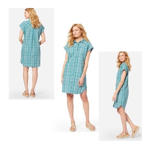 Pendleton plaid teal two pocket shirt