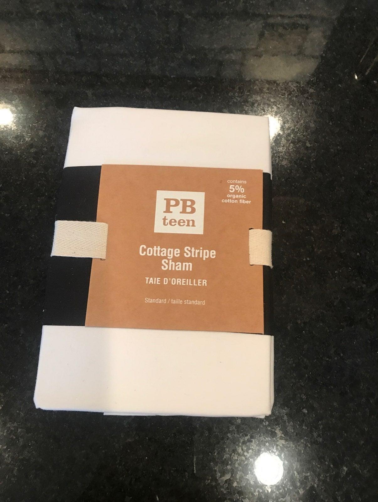 PB Teen Cottage Stripe Standard Sham