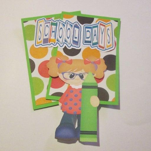 School Days Girl - Scrapbook or Card Set