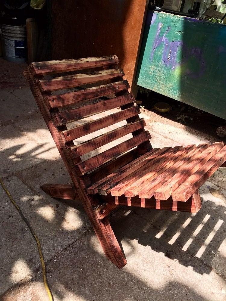 All wood handmade fold up chair