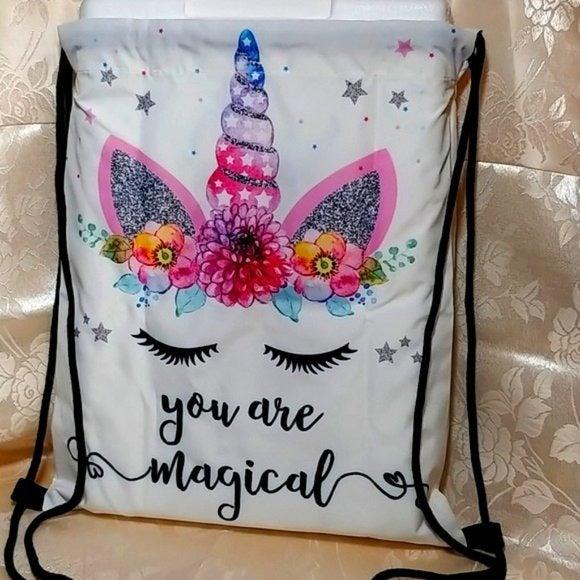 'You Are Magical' Unicorn Drawstring Bag