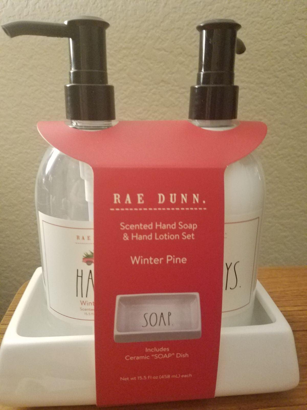 Rae Dunn Christmas Winter Pine Soap & Lo