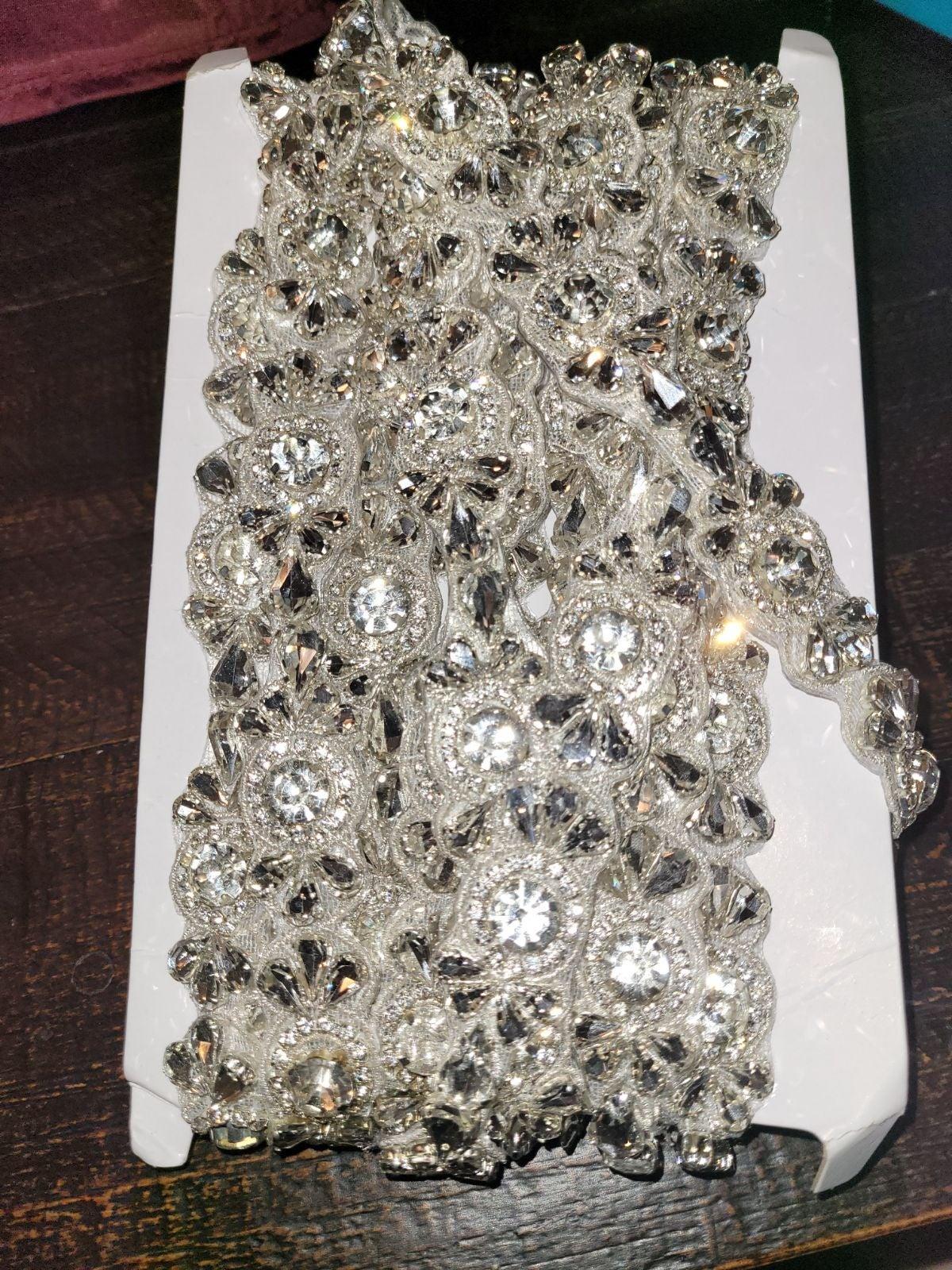 5 Yards Bridal Crystal Rhinestone Trim