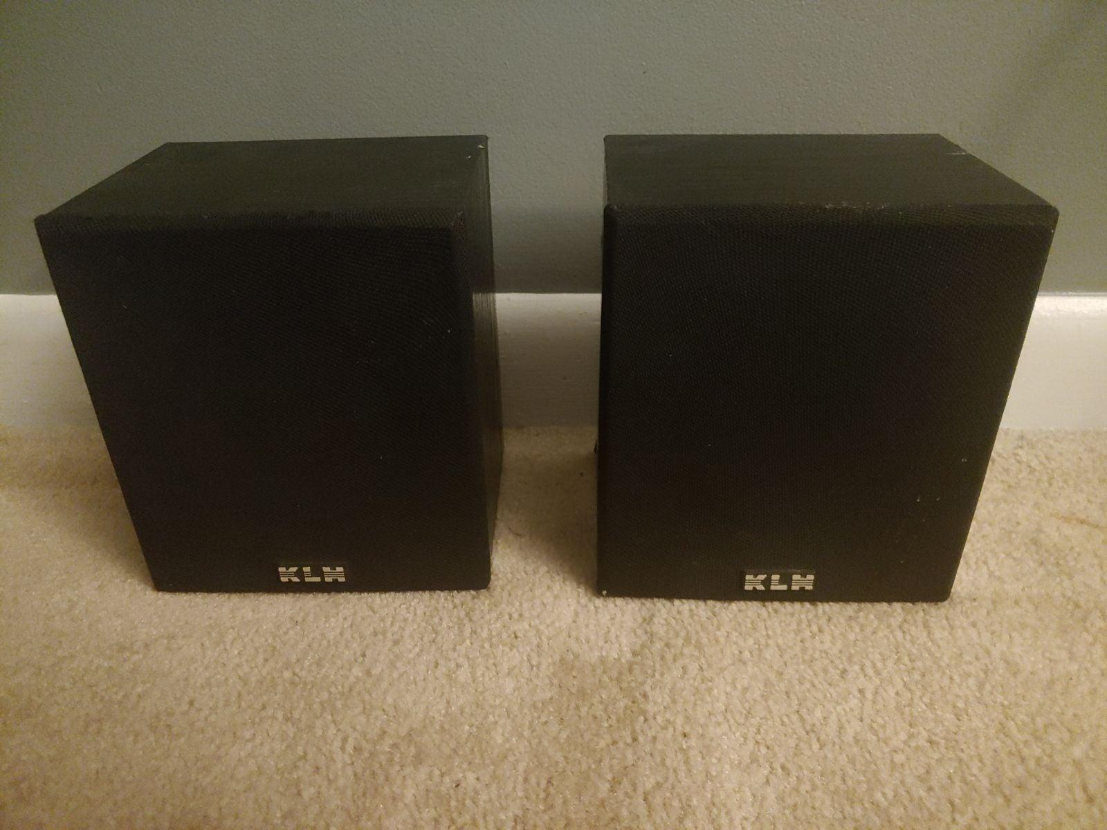 Klh surround speakers.
