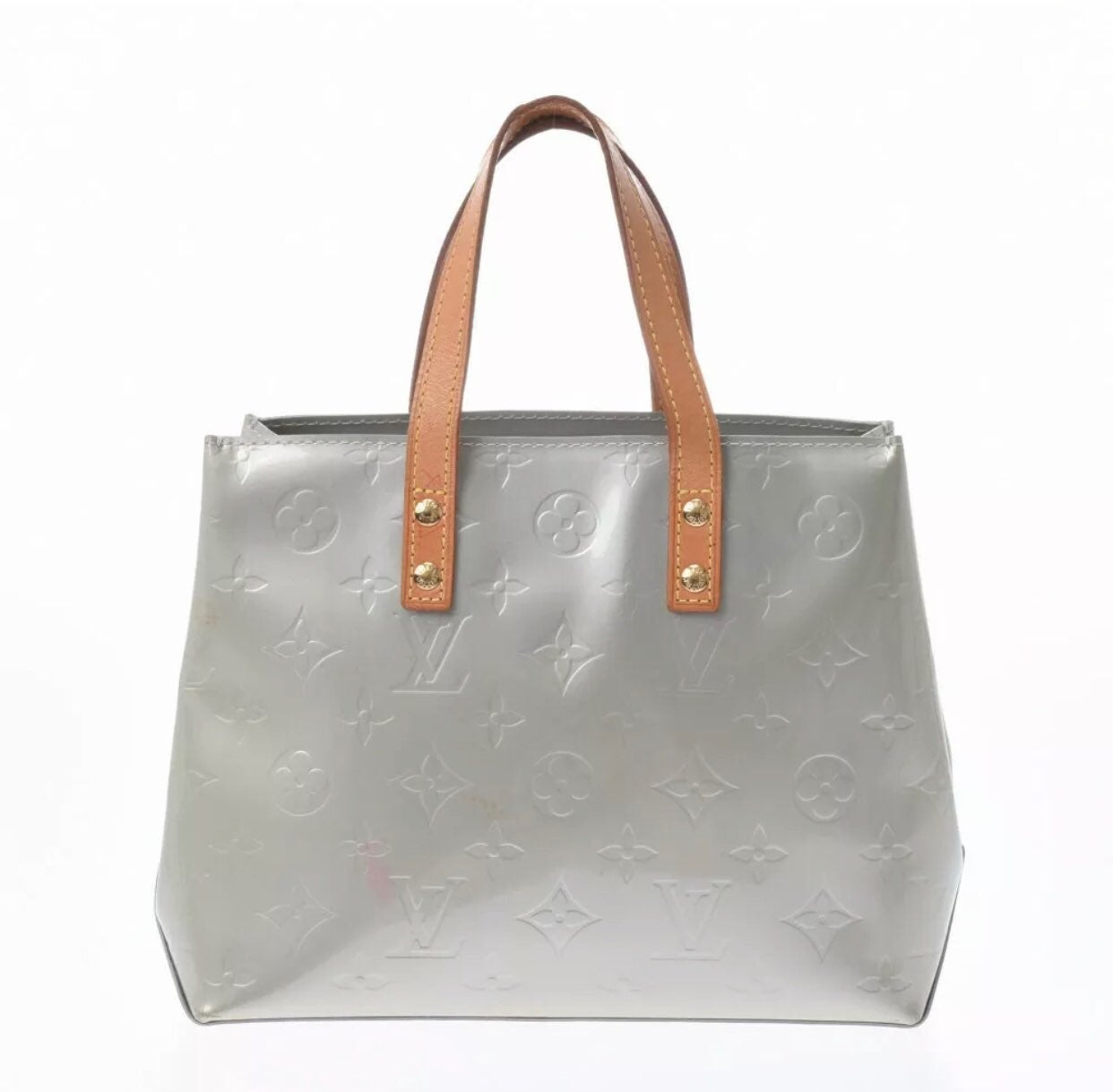 LOUIS VUITTON Vernis Lead PM Gris handba