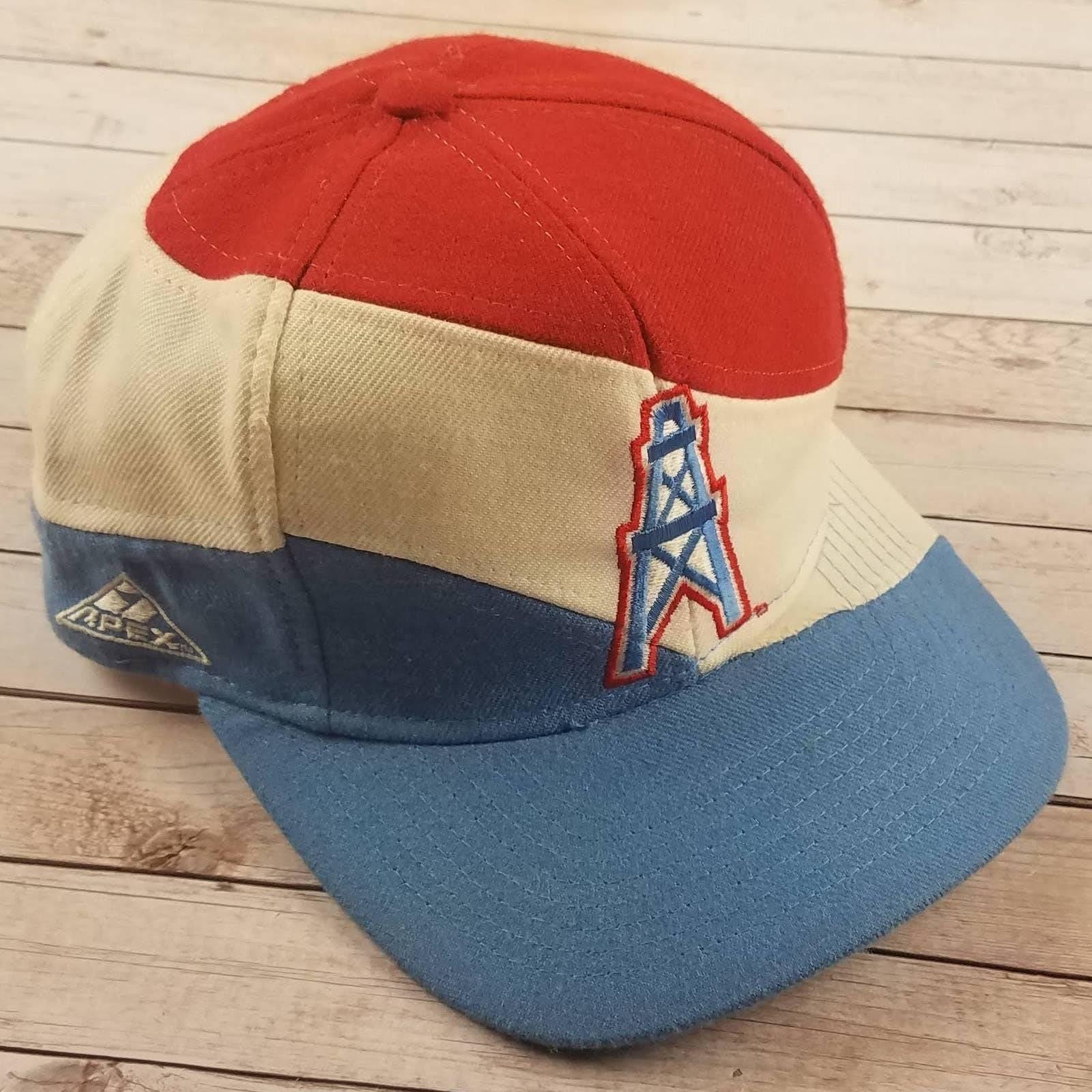 VTG 90s Houston Oilers Apex Snapback Hat