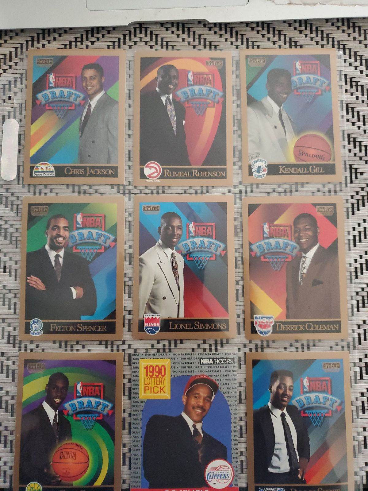 NBA draft cards 80s