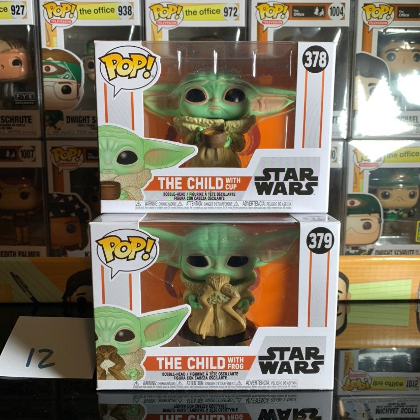 Funko Pop The Child with Cup & with Frog